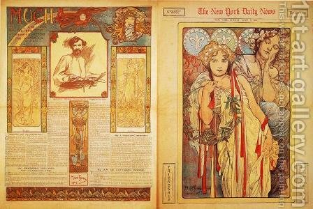 The New York Daily News, 1904 by Alphonse Maria Mucha - Reproduction Oil Painting