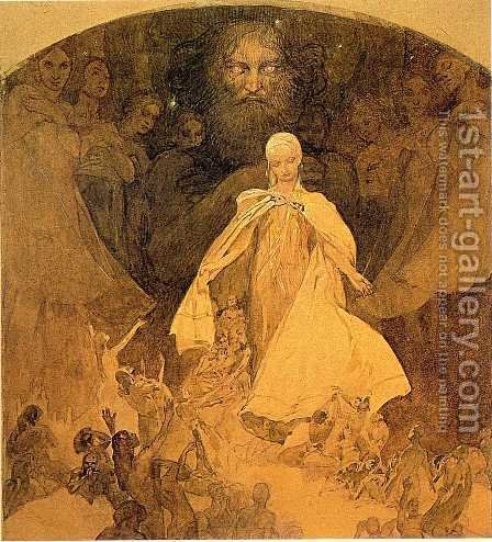 Age of Wisdom. 1936-1938 by Alphonse Maria Mucha - Reproduction Oil Painting