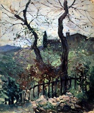 Famous paintings of Palisades: Perugia, Umbria, 1894