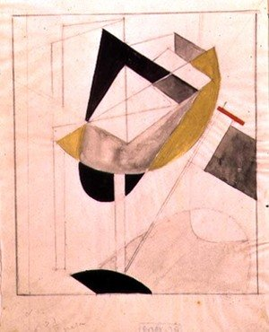 Constructivism painting reproductions: Proun 19, 1920