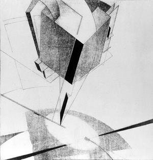 Constructivism painting reproductions: Proun 5 A, 1919
