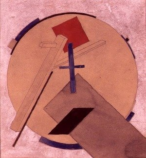 Constructivism painting reproductions: Untitled Proun Study, c.1919-20