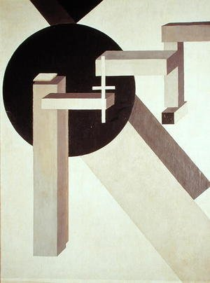 Constructivism painting reproductions: Proun 10, 1919