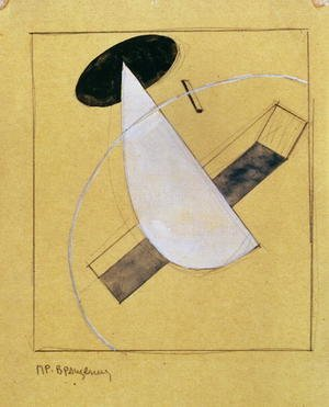Constructivism painting reproductions: Proun 18, 1919-20