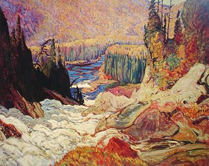 Group of Seven painting reproductions: Falls - Montreal River