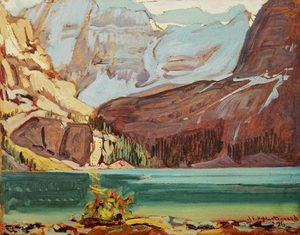 Group of Seven painting reproductions: Lake O'Hara Rocky Mountains 1926