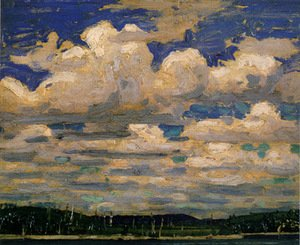 Famous paintings of Clouds & Skyscapes: Summer Day
