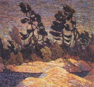 Group of Seven painting reproductions: Byng Inlet - Georgian Bay