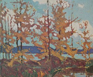 Group of Seven painting reproductions: Tamaracks