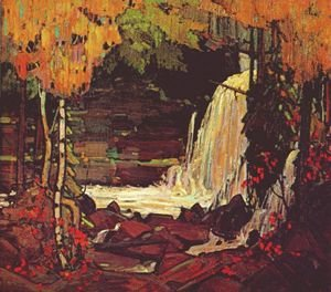 Group of Seven painting reproductions: Woodland Waterfall