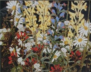 Group of Seven painting reproductions: Wildflowers