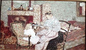 Nabis painting reproductions: Woman Feeding a Child (Annette, daughter of Ker Xavier Roussel) 1901
