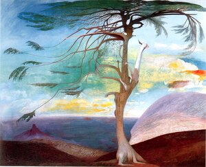Symbolism painting reproductions: The Solitary Cedar, 1907