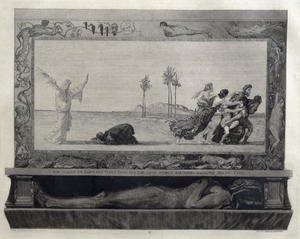 Max Klinger reproductions - Death As Saviour (Der Tod als Heiland) illustration from Part 1, Opus XI of 'On Death', 1889