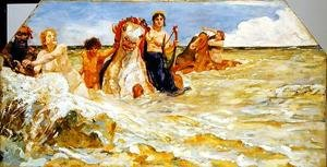 Reproduction oil paintings - Max Klinger - Sea Gods in the Surf, 1884-85