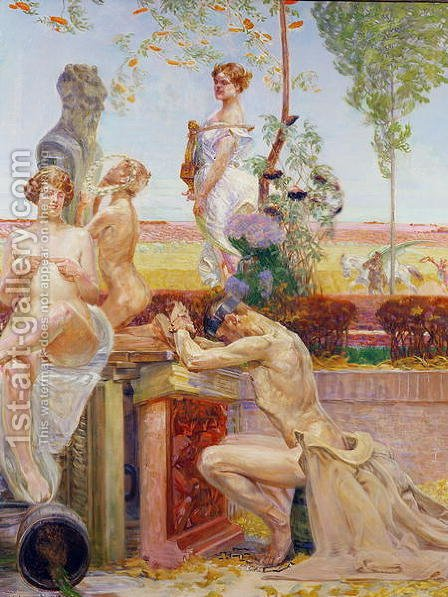 Allegorical Figures, 1913 by Jacek Malczewski - Reproduction Oil Painting