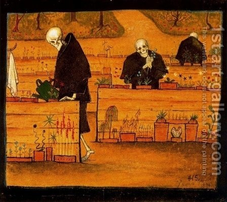 The Garden of Death, 1896 by Hugo Simberg - Reproduction Oil Painting