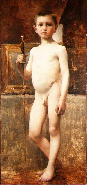 Nude Boy with Sword