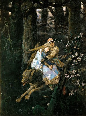 Romanticism painting reproductions: Prince Ivan on the Grey Wolf, 1889