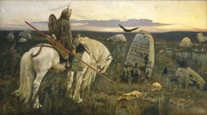 Romanticism painting reproductions: The Knight at the Crossroads, 1882