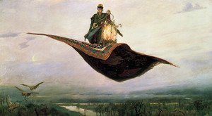 Famous paintings of Clouds & Skyscapes: Flying Carpet 1880
