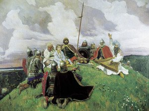 Famous paintings of Knights & Warriors: Boyan, 1910