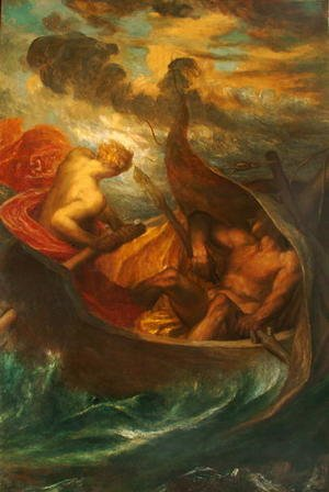 Reproduction oil paintings - George Frederick Watts - Love steering the Boat of Humanity, c.1900