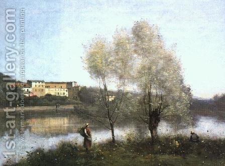 Jean-Baptiste-Camille Corot: Ville d'Avray, c. 1867 - reproduction oil painting