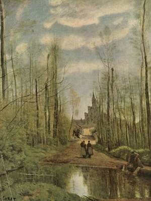 Reproduction oil paintings - Jean-Baptiste-Camille Corot - The Church at Marissel, 1866