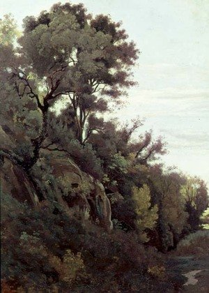 Reproduction oil paintings - Jean-Baptiste-Camille Corot - Marino - Trees and Rocks
