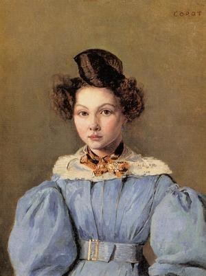Reproduction oil paintings - Jean-Baptiste-Camille Corot - Marie Louise Sennegon, 1831