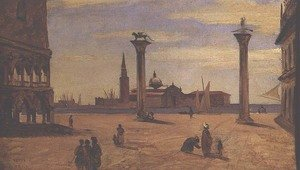 Reproduction oil paintings - Jean-Baptiste-Camille Corot - Piazzetta di San Marco, Venice, 1828-34