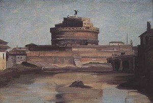 Reproduction oil paintings - Jean-Baptiste-Camille Corot - The Castle of St. Angelo, Rome