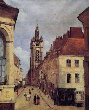 Reproduction oil paintings - Jean-Baptiste-Camille Corot - The Belfry of Douai, 1871