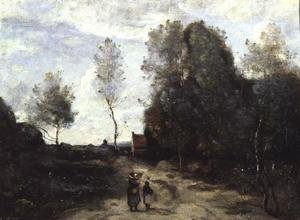Reproduction oil paintings - Jean-Baptiste-Camille Corot - The Road