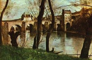 Reproduction oil paintings - Jean-Baptiste-Camille Corot - The Bridge at Mantes