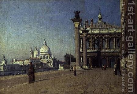 Morning in Venice by Jean-Baptiste-Camille Corot - Reproduction Oil Painting