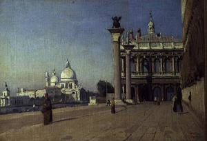 Reproduction oil paintings - Jean-Baptiste-Camille Corot - Morning in Venice