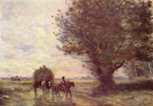 Reproduction oil paintings - Jean-Baptiste-Camille Corot - The Haycart, c. 1860