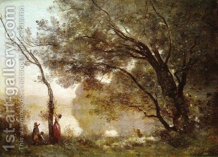 Jean-Baptiste-Camille Corot: Recollections of Mortefontaine, 1864 - reproduction oil painting