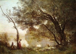 Reproduction oil paintings - Jean-Baptiste-Camille Corot - Recollections of Mortefontaine, 1864
