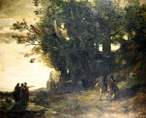 Reproduction oil paintings - Jean-Baptiste-Camille Corot - Macbeth and the Witches, 1858-59