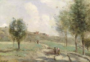 Reproduction oil paintings - Jean-Baptiste-Camille Corot - Coubro: Ascending Path