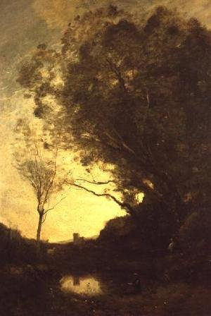 Reproduction oil paintings - Jean-Baptiste-Camille Corot - The Evening