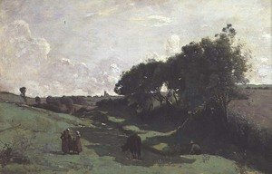 Reproduction oil paintings - Jean-Baptiste-Camille Corot - The Little Valley