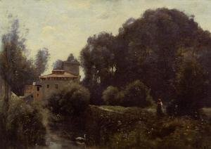 Reproduction oil paintings - Jean-Baptiste-Camille Corot - Souvenir of the Villa Borghese, 1855