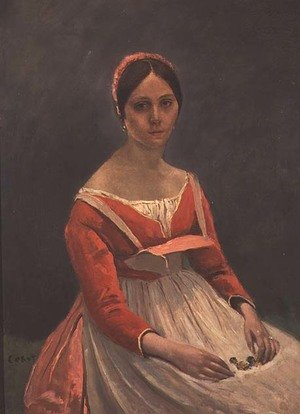 Reproduction oil paintings - Jean-Baptiste-Camille Corot - Madame Legois, 1838