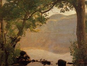 Reproduction oil paintings - Jean-Baptiste-Camille Corot - Lake Nemi, 1843