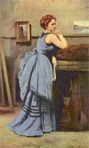 Reproduction oil paintings - Jean-Baptiste-Camille Corot - The Woman in Blue, 1874