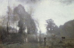 Reproduction oil paintings - Jean-Baptiste-Camille Corot - The pond at Ville d'Avray, 1868